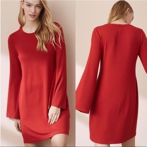 Lou & Grey Bell Sleeve Red Dress